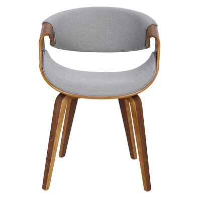 Corsica Curvo Armchair Finish: Gray, Leg Finish: Cross Frame Bentwood
