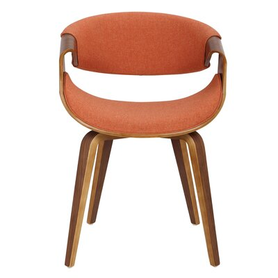 Corsica Curvo Armchair Finish: Orange, Leg Finish: Cross Frame Bentwood
