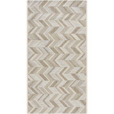 Farlough Brown/Neutral Indoor/Outdoor Area Rug Rug Size: Rectangle 2 x 37