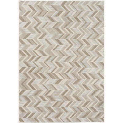 Farlough Brown/Neutral Indoor/Outdoor Area Rug Rug Size: Rectangle 53 x 77