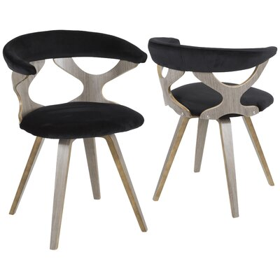 Altigarron Barrel Chair Upholstery: Black, Finish: Light Grey