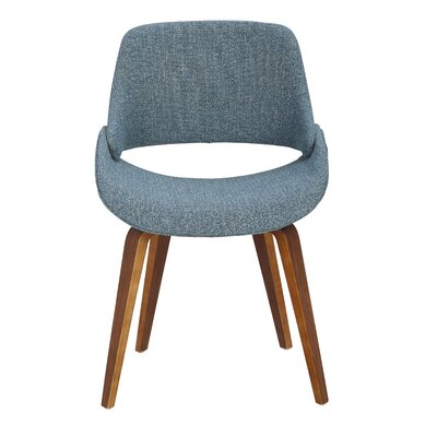 Aird Dining Chair Finish: Blue, Leg Finish: Cross Frame Bentwood