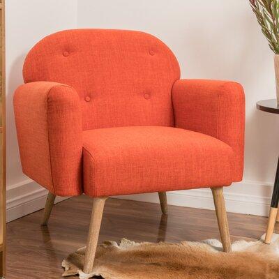 Hartford Armchair Upholstery: Orange