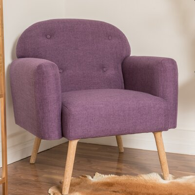 Hartford Armchair Upholstery: Purple