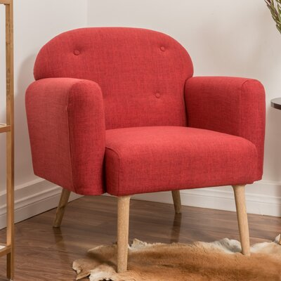 Hartford Armchair Upholstery: Red