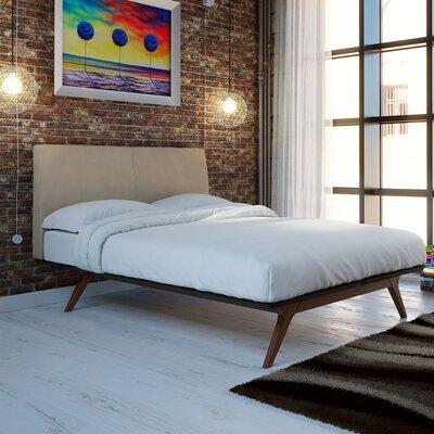 Hannigan Queen Upholstered Platform Bed Color: Latte