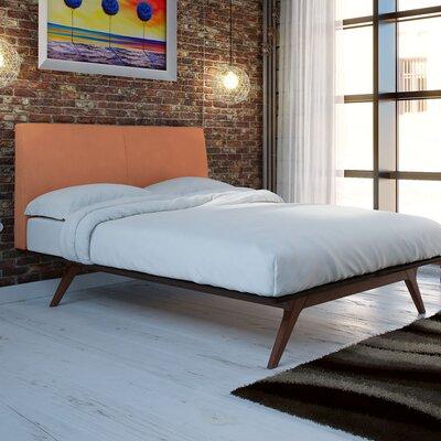 Hannigan Queen Upholstered Platform Bed Color: Orange