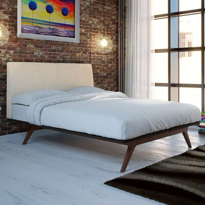 Hannigan Queen Upholstered Platform Bed Color: Beige