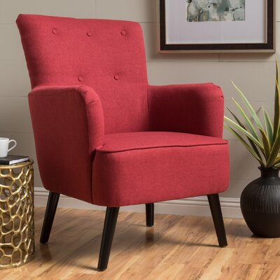 Sinan Armchair Upholstery: Red