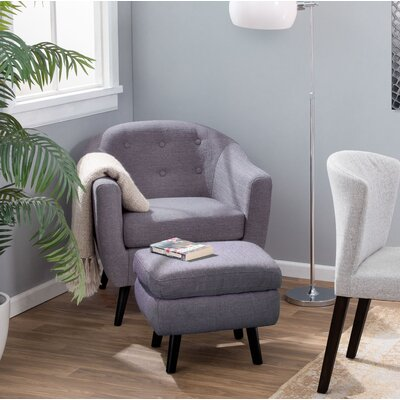 Henley Barrel Chair Upholstery: Charcoal Gray