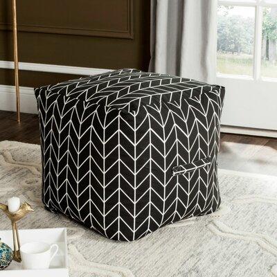 Chenango Pouf Upholstery: Black/White