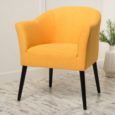 Magnus Barrel Chair Upholstery: Orange