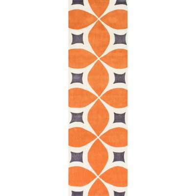 Sorrento Hand Woven Orange Area Rug Rug Size: Runner 26 x 6