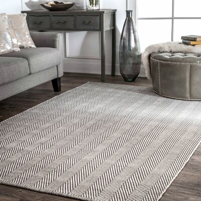 Calvert Hand-Woven Gray Area Rug Rug Size: Rectangle 10 x 14