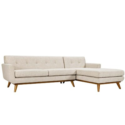 Johnston Sectional Upholstery: Beige, Orientation: Right Hand Facing