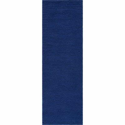 Berkman Hand-Woven Navy Area Rug Rug Size: Runner 26 x 8