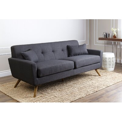 Fresco Tufted Sofa Upholstery: Grey