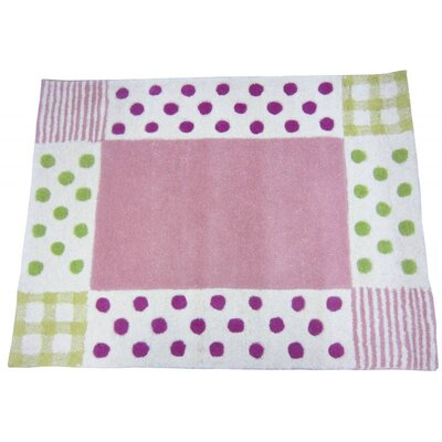 Polka Dot Hand-Tufted Pink/Green Kids Rug