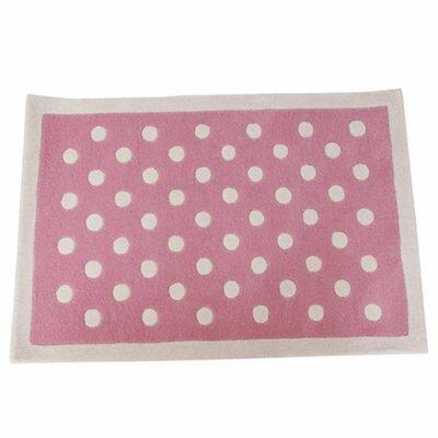 Polka Dot Hand-tufted Pink/white Kids Rug
