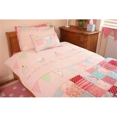 Kensal Tea Party Cupcake 100% Cotton 2 Piece Duvet Set