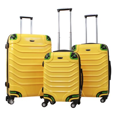 Gabbiano Exotic 3 Piece Luggage Set - Color: Yellow