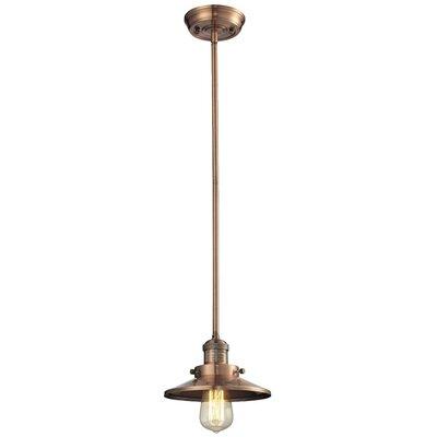 Railroad Shade 1-Light Pendant Finish: Antique Copper