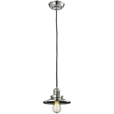 Railroad Shade 1-Light Mini Pendant Finish: Polished Nickel