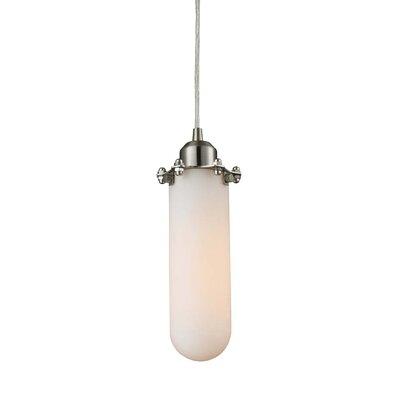 Centri 1-Light Mini Pendant Shade Color: Matte White Cased, Finish: Satin Nickel