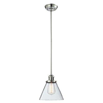 Glass Cone 1-Light Pendant Size: 10