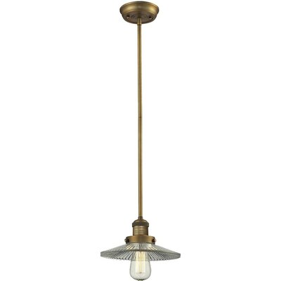 Holophone Glass 1-Light Pendant Finish: Brushed Brass