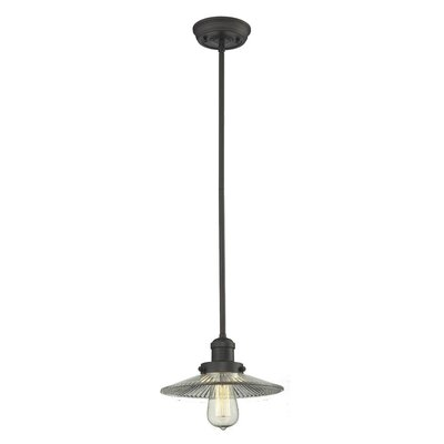 Holophone Glass 1-Light Pendant Finish: Oiled Rubbed Bronze