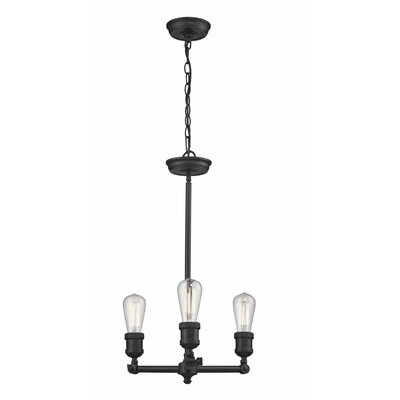 Bare 3-Light Foyer Pendant Finish: Brushed Brass