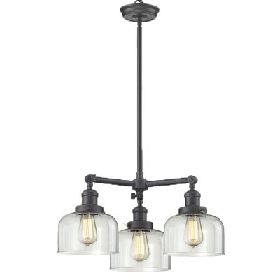 Glass Bell 3-Light Pool Table Light Finish: Oiled Rubbed Bronze, Shade Color: Clear