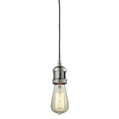 Bare Bulb 1-Light Mini Pendant Finish: Polished Nickel