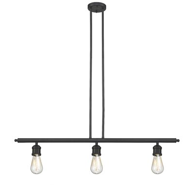 Bare Bulb 3-Light Kitchen Island Pendant Finish: Oiled Rubbed Bronze