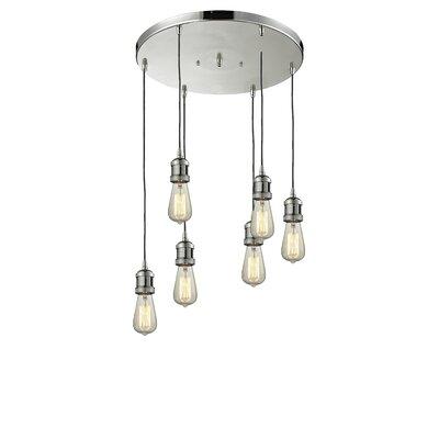 Bare Bulb 6-Light Pendant Finish: Polished Nickel