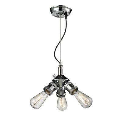 Bare Bulb 3-Light Sputnik Chandelier Finish: Polished Nickel