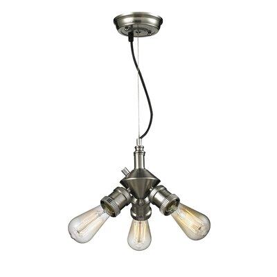 Bare Bulb 3-Light Sputnik Chandelier Finish: Satin Nickel