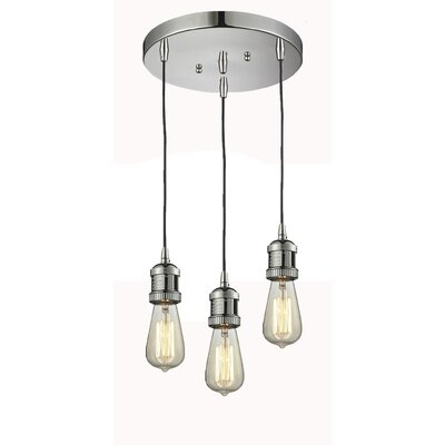 Bare Bulb 3-Light Pendant Finish: Polished Nickel