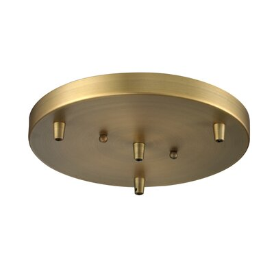 Bare Bulb 3-Light Pendant Finish: Brushed Brass