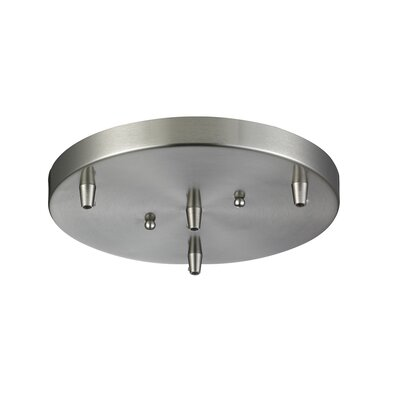 Bare Bulb 3-Light LED Cluster Pendant Finish: Brushed Satin Nickel