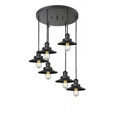 Railroad Shade 6-Light Pendant Finish: Antique Copper
