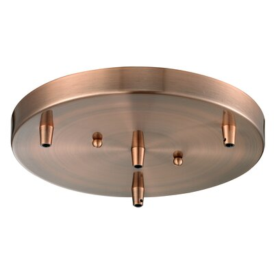 3-Light Pan Accesory Finish: Antique Copper