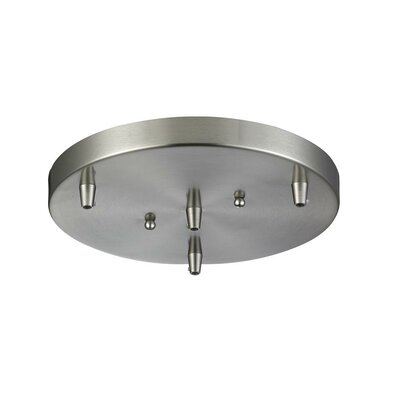3-Light Pan Accesory Finish: Brushed Satin Nickel