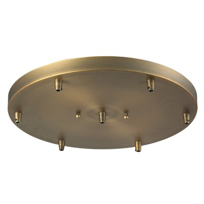 6-Light Pan Accesory Finish: Black/Brushed Brass