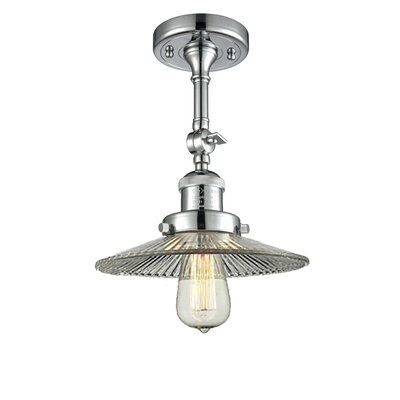 Halophane Glass Semi Flush