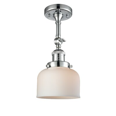 Glass Bell Semi-Flush Shade Color: Matte White, Size: 11