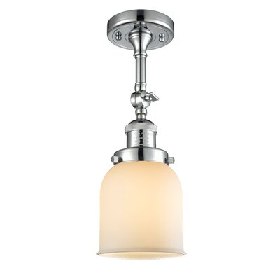 Glass Bell Semi-Flush Shade Color: Polished Chrome, Size: 11 H x 5 W