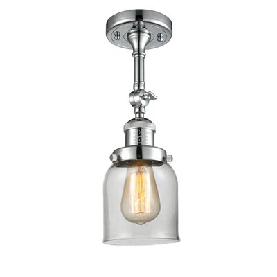 Glass Bell Semi-Flush Shade Color: Clear, Size: 11 H x 5 W