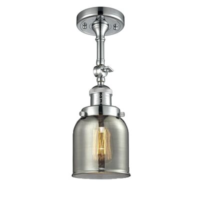 Glass Bell Semi-Flush Size: 11